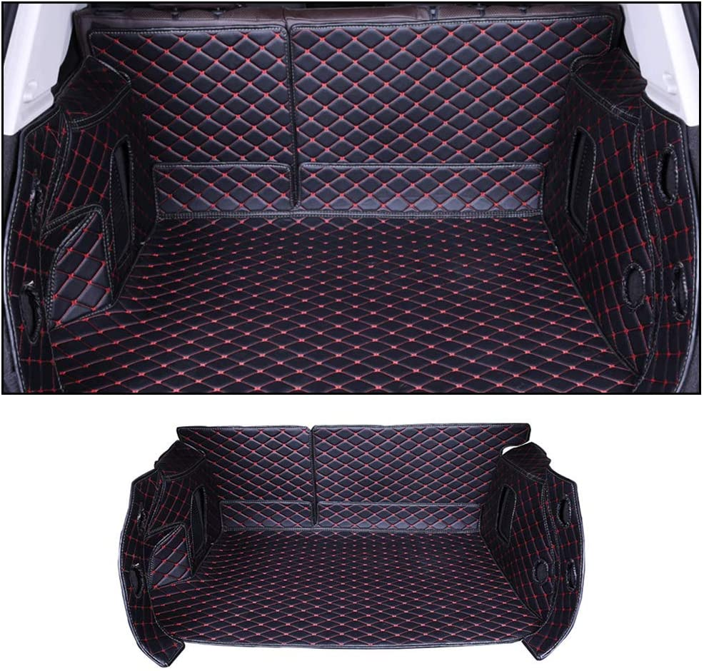 All Weather Leather Trunk mat fit for for Cadillac CTX 2010-2012 All-Inclusive Version Protection Custom Cargo Mat Black red