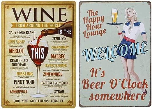 Retro Blechschild VIP Lounge Bar Wand Deko Vintage Partyraum Metallschild Bier