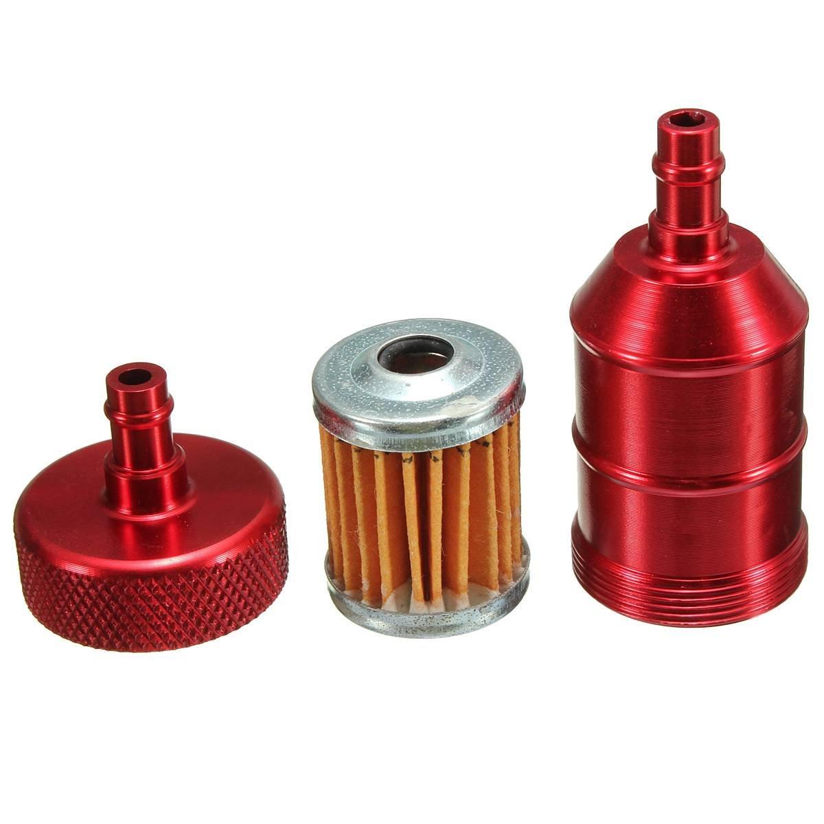 AUDEW Filtro Combustible Gas Gasolina Aluminio Inline 1 / 4 de 6mm ...