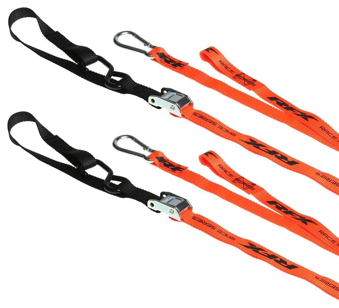 RFX FXTD 30000 55OR Race Series - Coppia di corde di ancoraggio per moto, colore: arancione Race FX FXTD 30000 55OR
