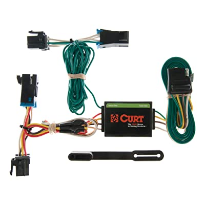CURT 55377 Vehicle-Side Custom 4-Pin Trailer Wiring Harness for Select Chevrolet Express, GMC Savana: Automotive