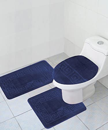 Perfect 3 Piece Bath Rug Set Pattern Bathroom Rug (20u0026quot;x32u0026quot;)/large