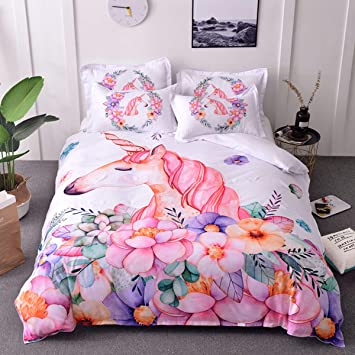 3eed277a83d Fashion·LIFE Floral Printed Duvet Cover Fresh Style Garden Bedding ...
