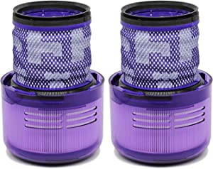 Wolfish 2 Pack Filters Replacements for Dyson V11 Cordless Stick Vacuums, Replace Part No. 970013-02