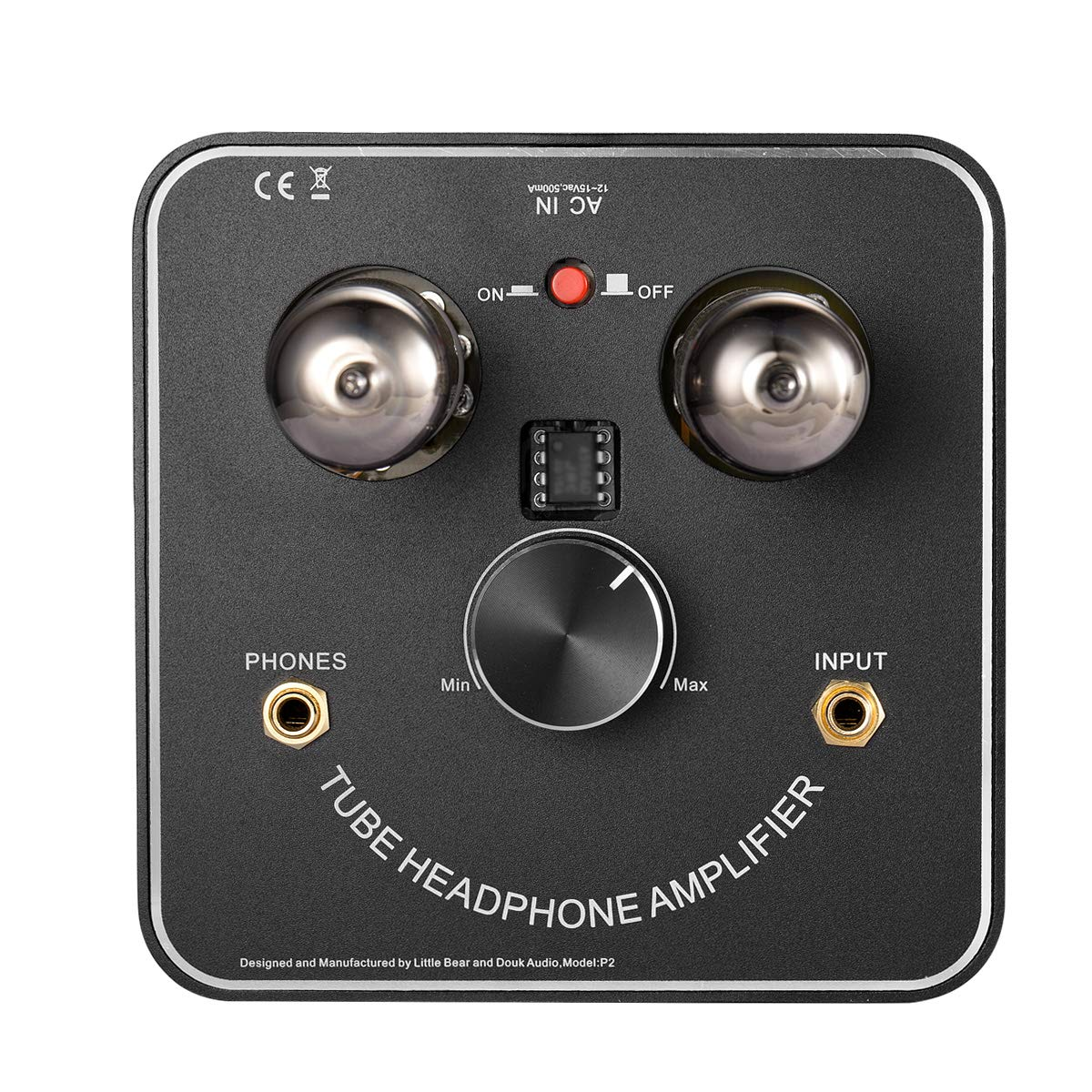 nobsound Little Bear P2/Mini 6/C11/Vacuum Tube Headphone Amplifier est/éreo Hi-Fi Audio Amp; Replaceable Tube and Op Amp; with LED VU Meter Music Audio Spectrum Amplificador