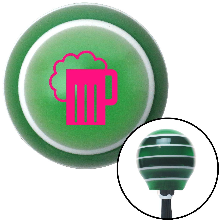 American Shifter 122395 Green Stripe Shift Knob with M16 x 1.5 Insert Pink Foaming Mug