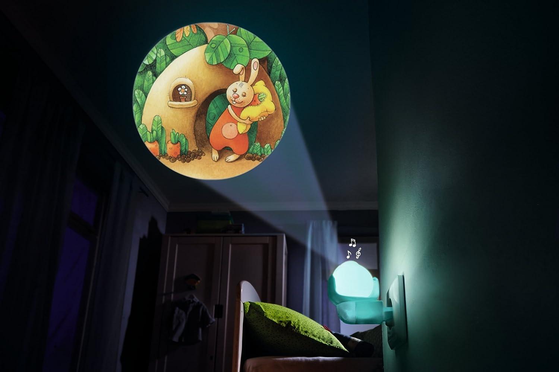 302917 Lampe pour Prise de Courant avec Musique Bonne Nuit Petit Ourson HABA