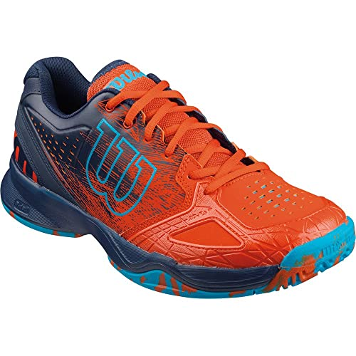 Wilson Kaos Comp, Zapatillas de Tenis Hombre, Multicolor (Tomato Red / Navy Wil / Scuba Blue), 46.5 EU: Amazon.es: Zapatos y complementos