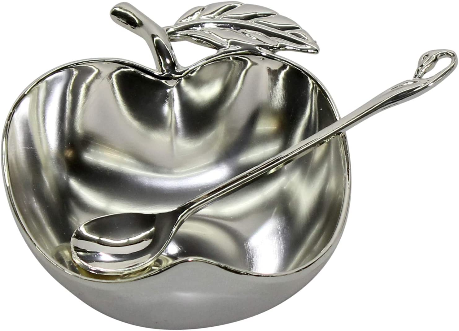 Majestic Giftware Apple Shaped Silver Plated with Spoon 4