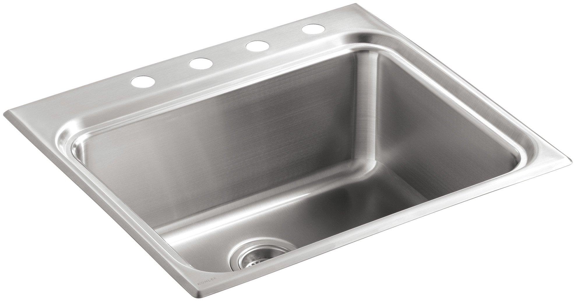 KOHLER K-3206-4-NA Ballad Self-Rimming Utility Sink