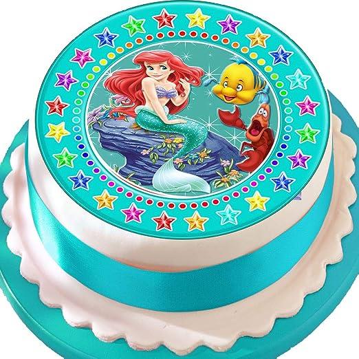 Ariel la Sirenita borde verde de Star cumpleaños troquelada ...