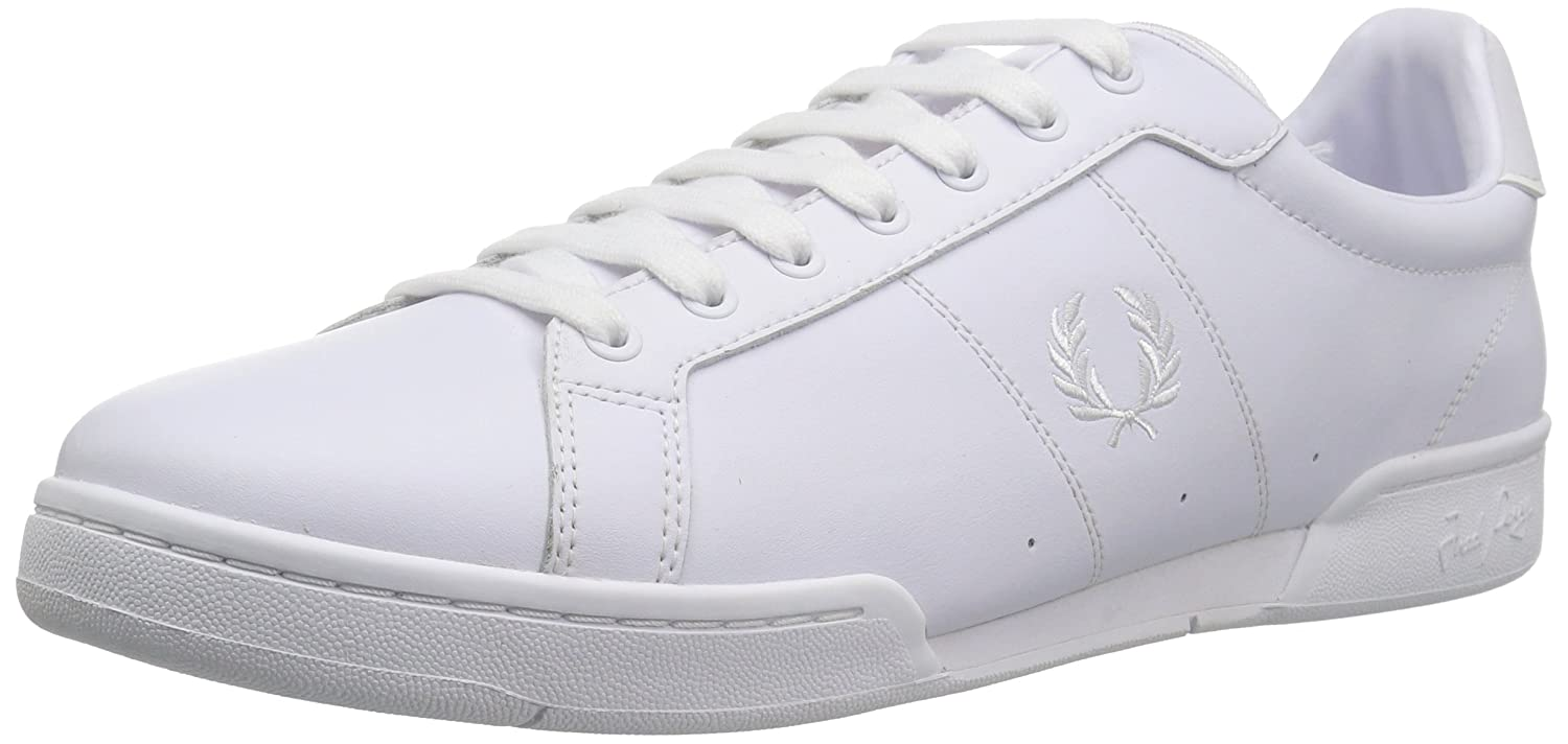 Fred Perry B7222 Leather Sneaker B06X19FXPQ 5 D UK (6 US) White