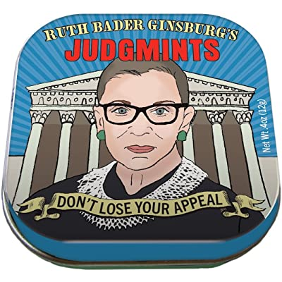 The Unemployed Philosophers Guild Ruth Bader Ginsburg's JudgMints Mints - 1 Small Tin 1.75 x 1.75: Toys & Games