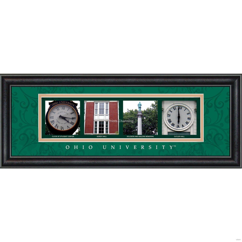Prints Charming Letter Art Framed Print, Ohio University-Ohio, Bold Color Border