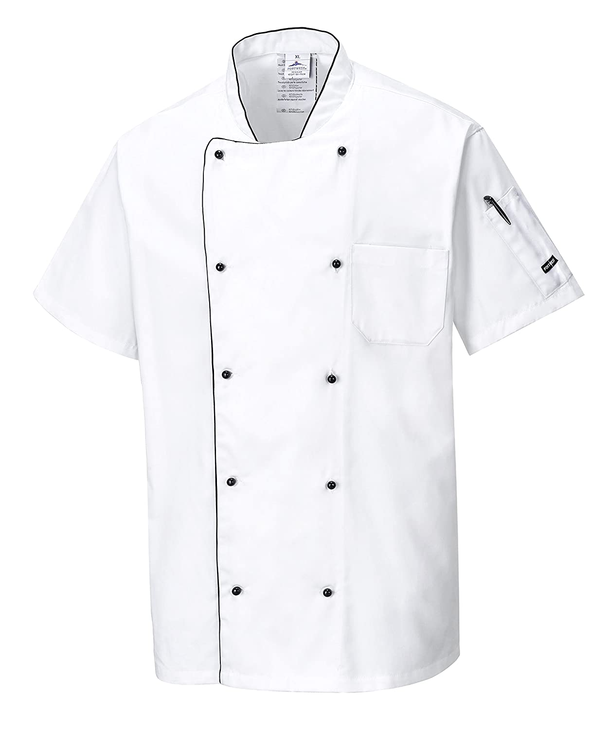 Portwest Workwear Mens Aerated Chef Jacket