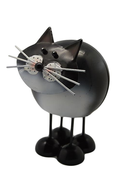Fountasia - Gatos decorativos de metal con muelles , negro