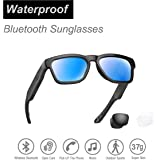 Water Resistant Audio Sunglasses, Fashionable Bluetooth Sunglasses to Listen Music and Make Phone Calls,UV400 Polarized Lens