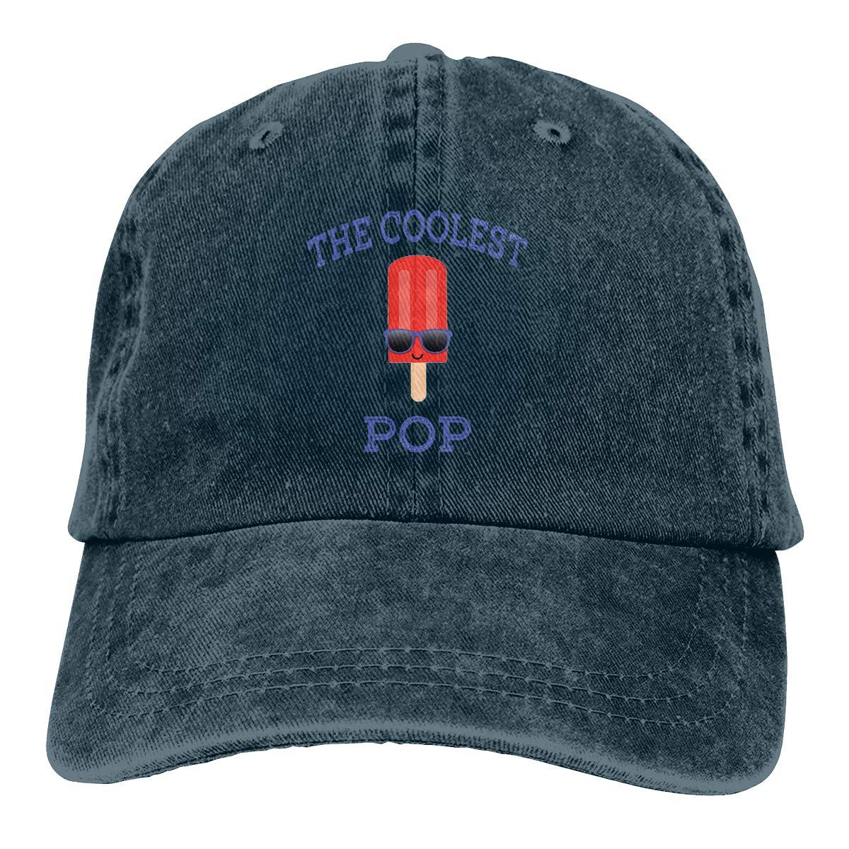 Adult Unisex Cowboy Cap Adjustable Hat The Coolest Pop Red Popsicle Cotton Denim
