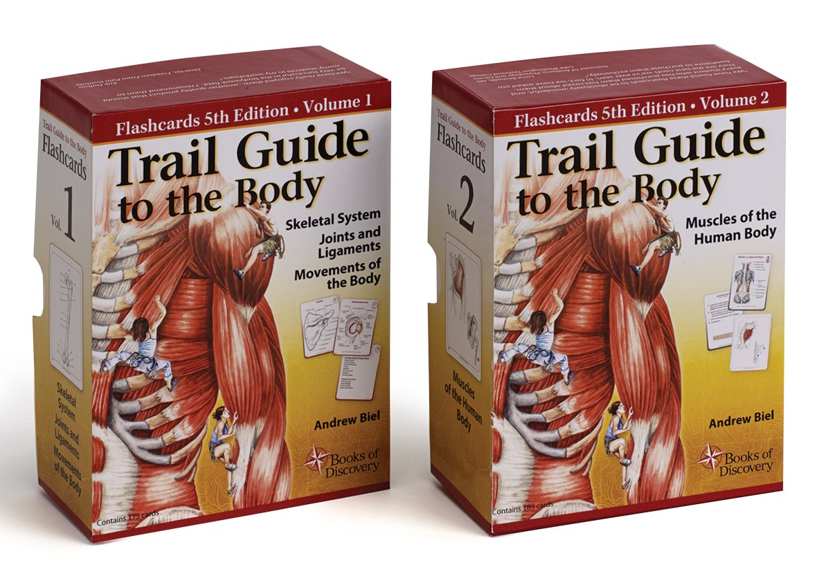 Trail Guide To The Body Flash Card Set - V1 Bones & Movement V2 Muscles