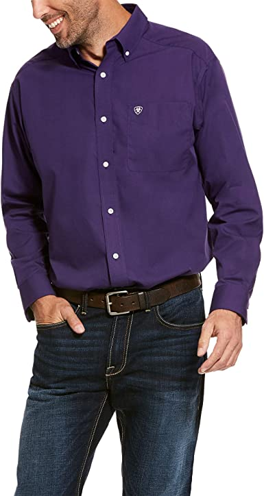 ARIAT Mens Wrinkle Free Tailgate Solid Classic Fit Shirt TCU Purple Size 3XL: Amazon.es: Ropa y accesorios