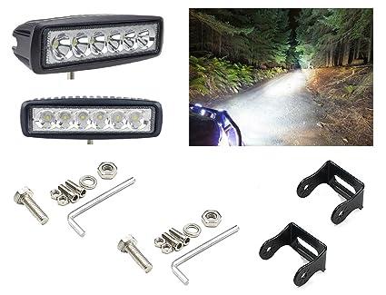 A2D Flood U0026 Spot Beam 6 LED High Intensity Light Aux Fog Light Off Road