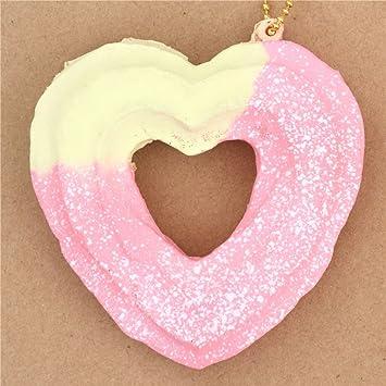 Lindo colgante blando Cafe de N Squishy kawaii churro corazón crema rosa espolvoreado: Amazon.es: Juguetes y juegos