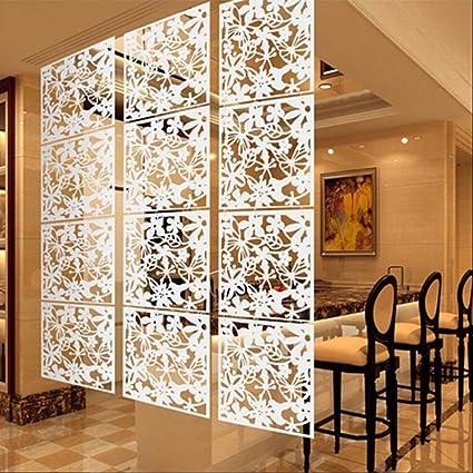 Tende Divisorie Cucina Soggiorno.Magideal 4x Farfalla Fiore Schermo Appeso Parete Divisoria Stanza Tenda Divisore Bianco