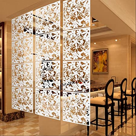 Pack Of 4 Butterfly Flower Hanging Screen Curtain Room Divider Partition  Wall 3 Colors   White