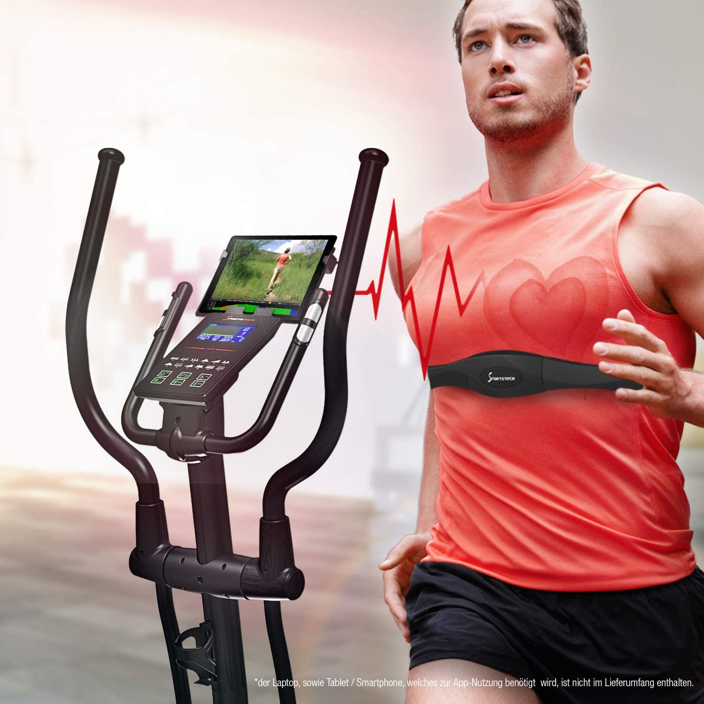 Sport piquent CX2/Cross Trainer avec appli smartphone /& G/én/érateur /électrique Console/-/Ceinture cardiaque compatible Ellipse dentra/înement avec Bluetooth int/égr/é et support de tablette/-/E
