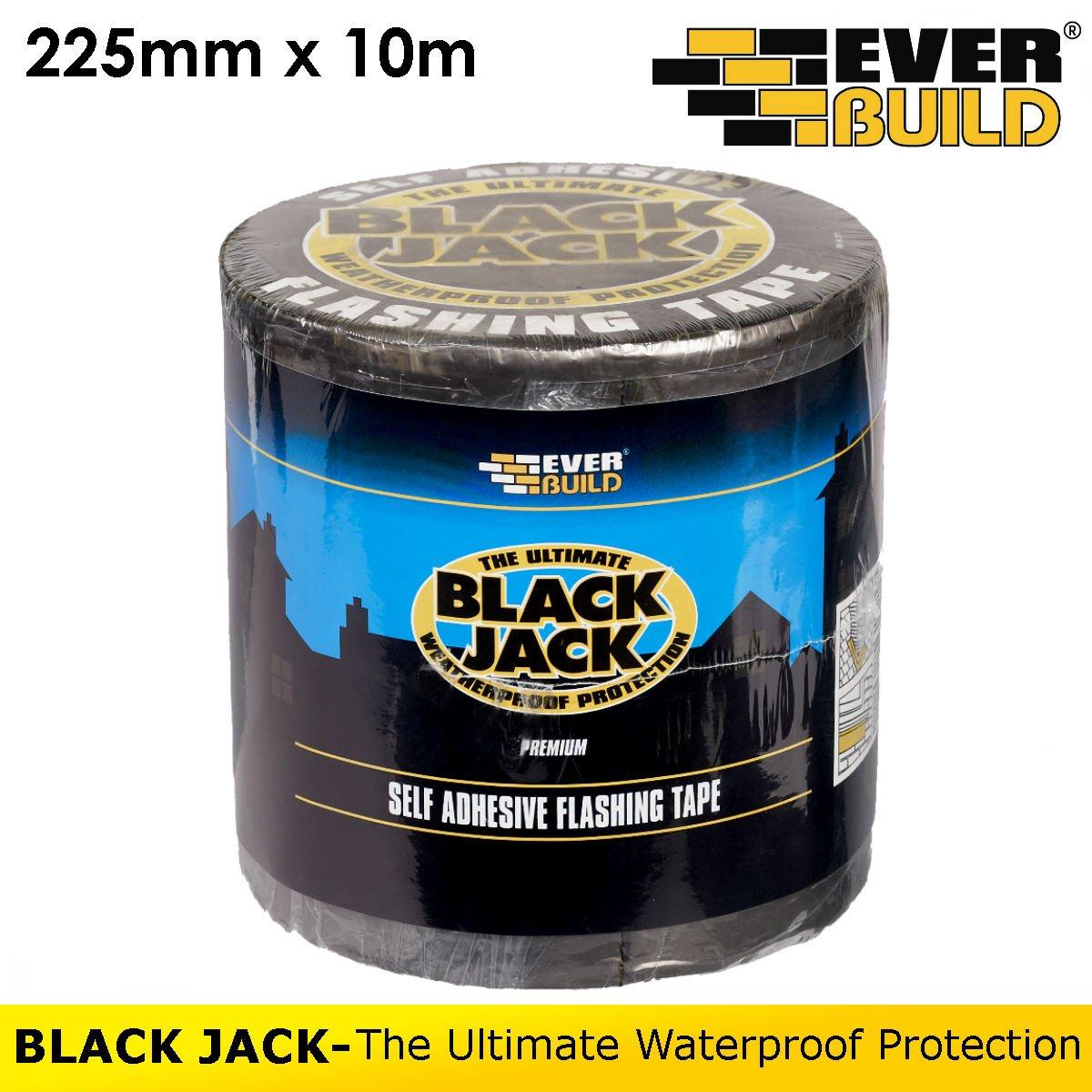 Black Jack | Flashing Tape | Self Adhesive | By Everbuild | 225mm x 10m