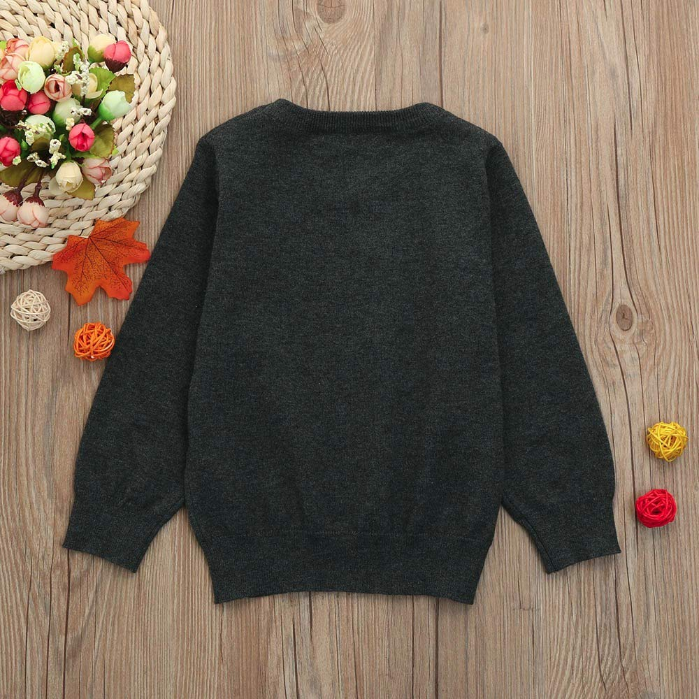 Amaone Baby Sweater Girls Boys for 1-6Years Old Kids Winter Warm Colorful Solid Color Pullover Sweater Children Unisex Knitwear Tops Clothes