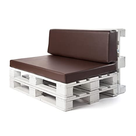 Conjunto colchoneta para sofas de palet y respaldo Chocolate (1 x Unidad) Cojin relleno con espuma. | Cojines para chill out, interior y exterior, ...