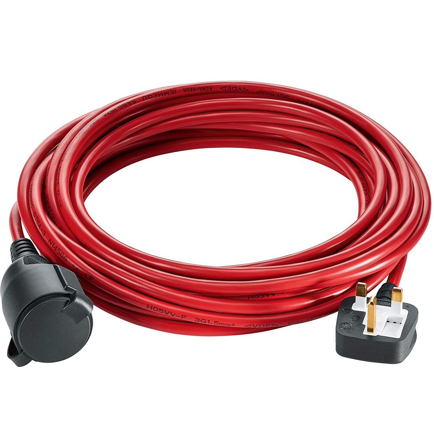 Power Cable Plug for QUALCAST Lawnmower Strimmer Trimmer 10m or 20m