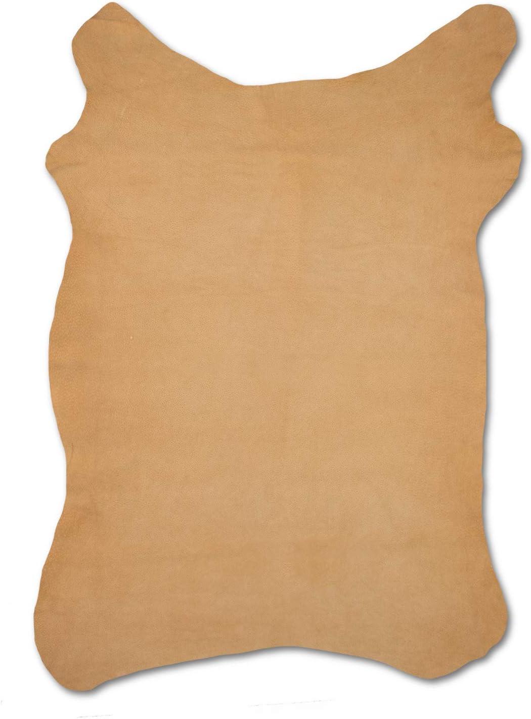 Zerimar Piel Cuero   Pieles Cuero Natural   Retales de Piel para Manualidades   Piel para Artesanos   Retal Cuero   Retales de Cuero   Color: marron   Medidas: 80x75 cm (cuero-1)