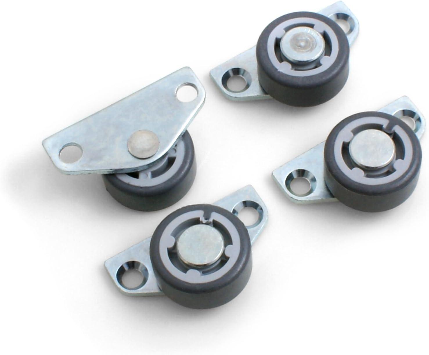 Ruedas para muebles // camas set de 4 unidades de Design61 ruedas laterales para parqu/é con banda de rodadura suave 30 x 14 mm