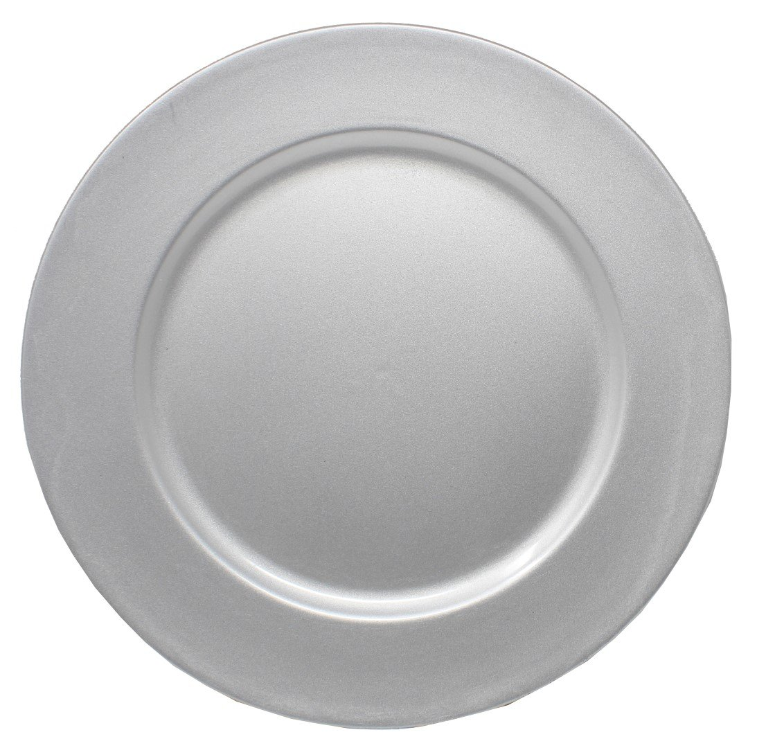 Ms Lovely Charger Plates - 13 Inch - Set of 6 - Silver