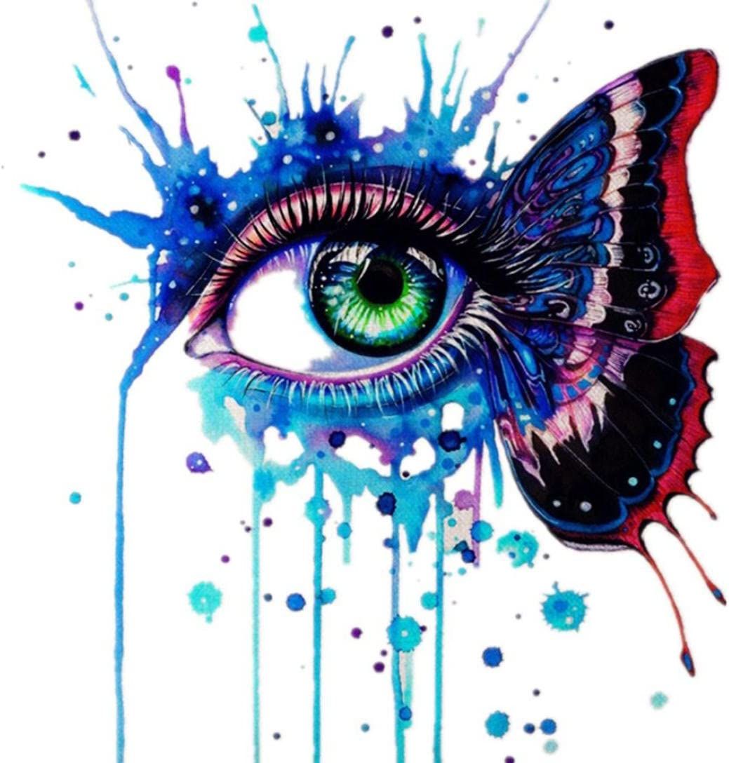 5D Embroidery Paintings Rhinestone Pasted DIY Diamond Painting Cross Stitch Kit Crystal Prime Tools Square Wall Decoration Living room Bedroom Kitchen 25x25cm, Eye 2