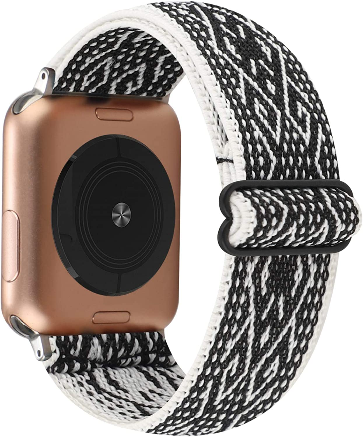 Adjustable Elastic Watch Band Compatible with Apple Watch 38mm 40mm, Nylon Stretchy Solo Loop Bracelet Women Replacement for iWatch Series 6/5/4/3/2/1