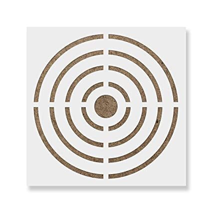 amazon com bullseye target stencil template reusable wall stencil