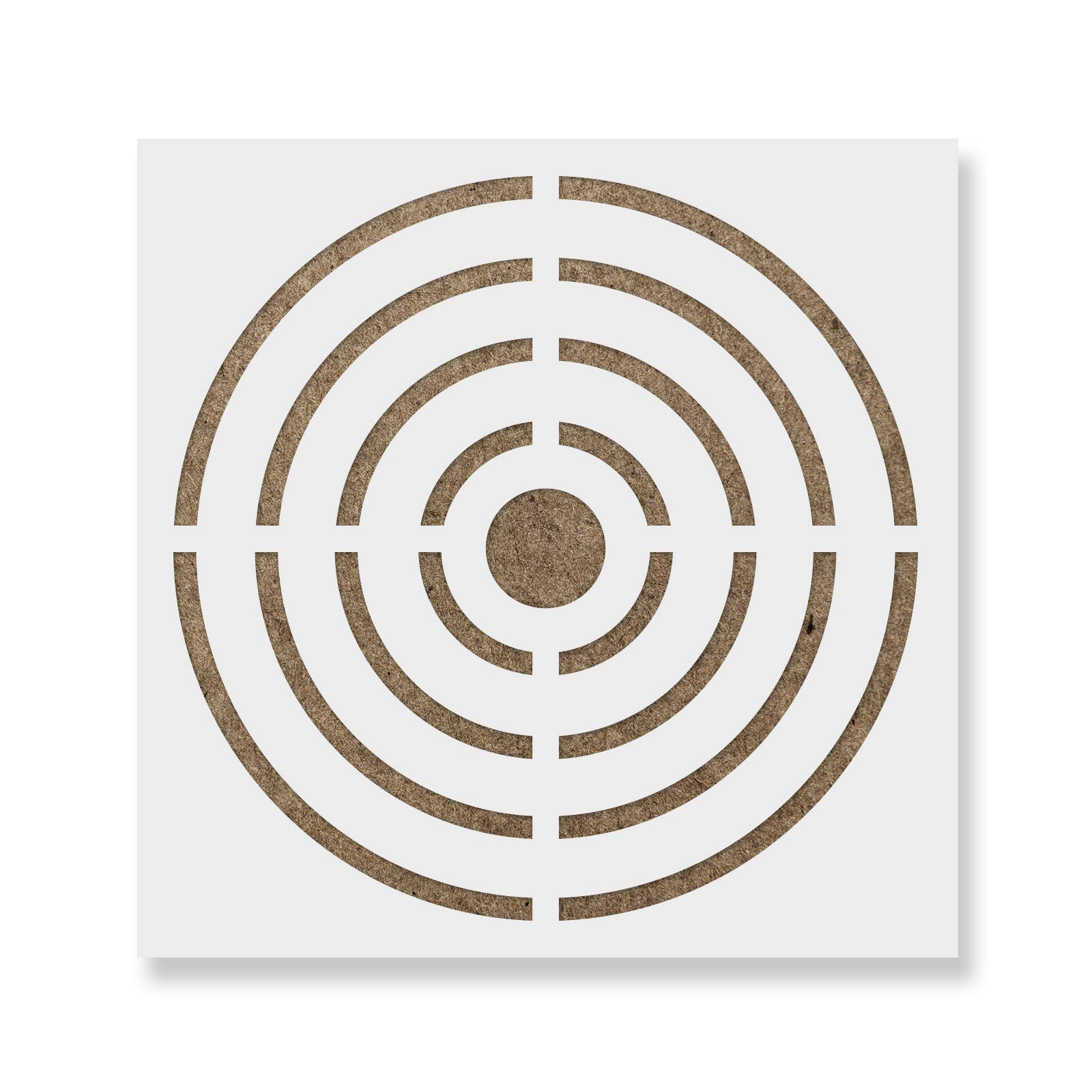 Bullseye Target Stencil Template - Reusable Wall Stencil with Multiple Sizes Available