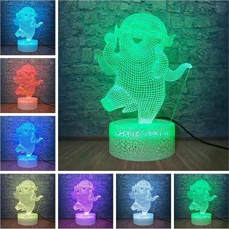 Figura de muñeca de 3D LED Lámpara de mesa Niños Dormir ...