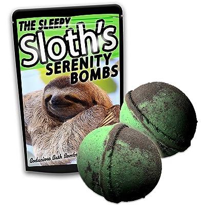 Sleepy Sloth's Serenity Bombs XL Bath Balls Cool Bath Fizzers for Kids Stocking Stuffers for Teens Novelty Sloth Gags for Friends Weird White Elephant Ideas Unisex Secret Santa: Toys & Games