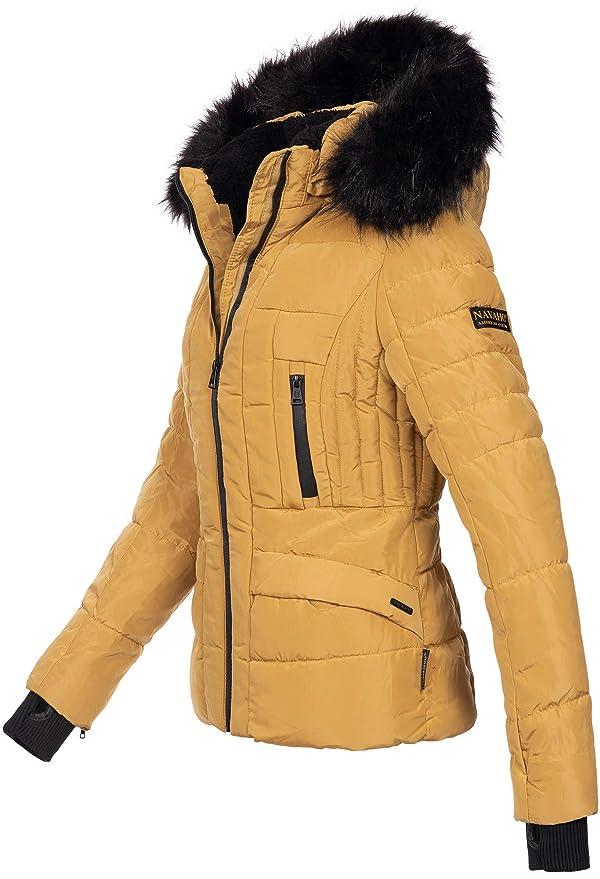 Navahoo Damen Winter Jacke warm gefüttert Teddyfell Stepp ...