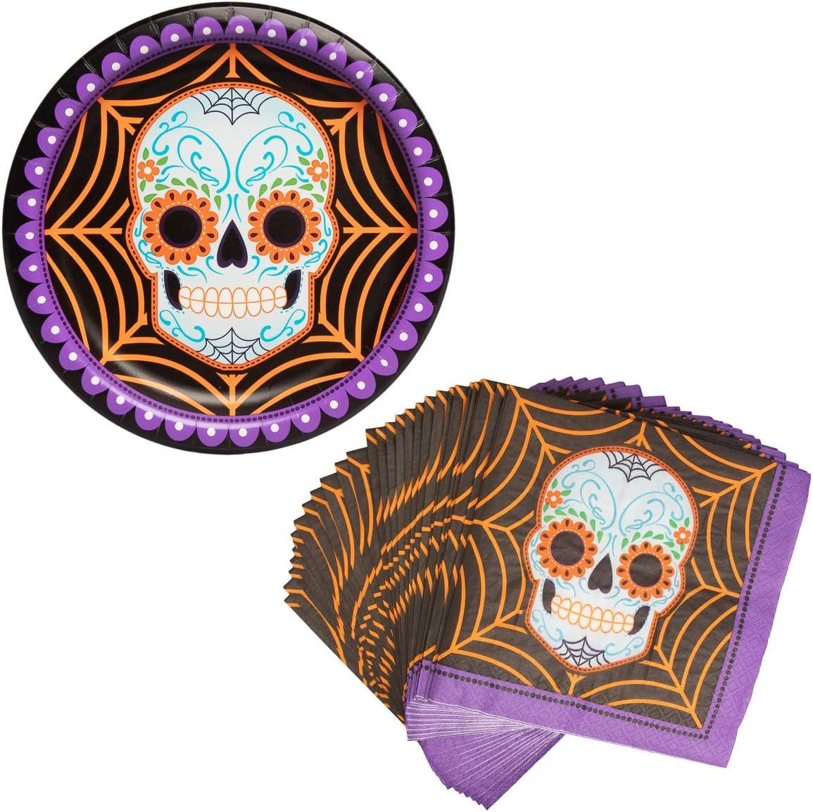 Sugar Skull Plates and Napkin Sets