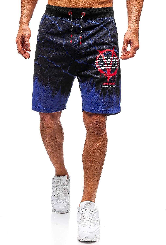Ombre Estivi di Tuta da Uomo Mix 7G7 BOLF Pantaloncini Corti di Moda Stampe