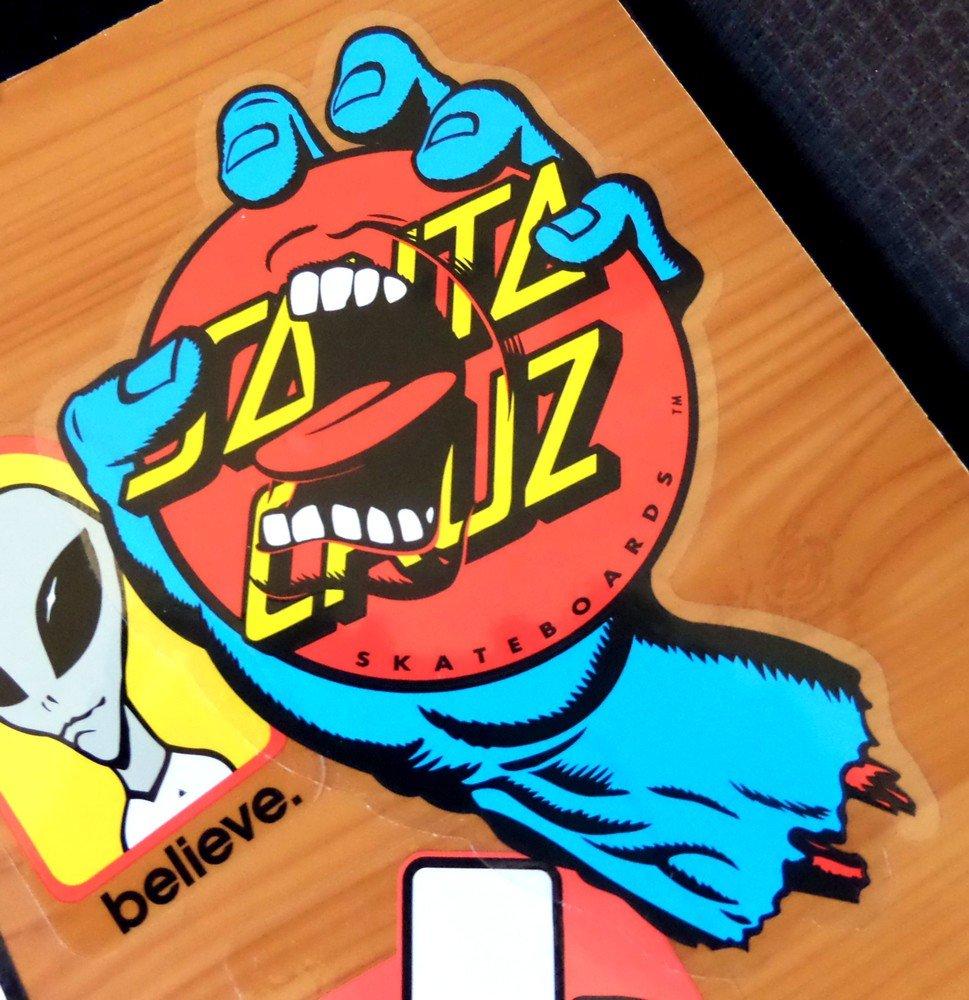 15cm high approx skate snow surf board bmx guitar van Santa Cruz Screaming Dot Skateboard Sticker