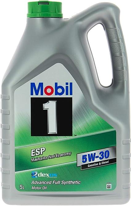 Mobil 1 154296 ESP 5W-30 Aceite de Motor, 5 L: Amazon.es: Coche y moto