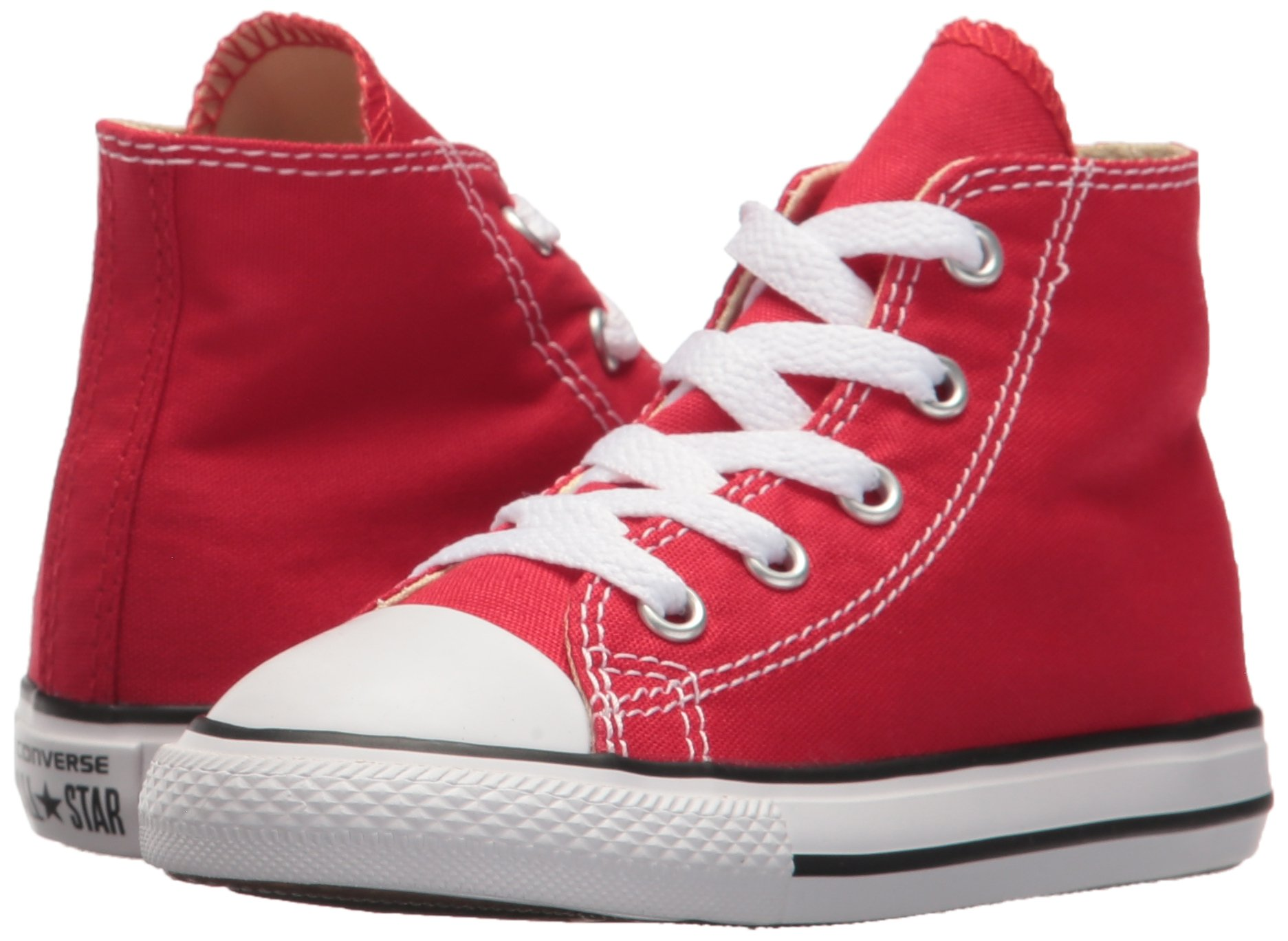 Converse Kids Chuck Taylor Classic Hi Red Sneaker - 10.5 by Converse (Image #6)
