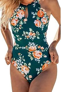 CUPSHE Hochsommer Blumen Neckholder Badeanzug