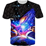 Loveternal Mens T-Shirts 3D Graphics Print Short Sleeve Funny Summer T Shirts